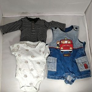 Mixed brand, shortalls and onesies